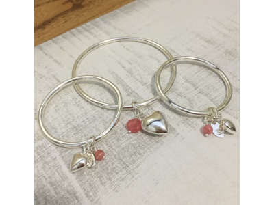 Mother & Child Sterling silver Bangles
